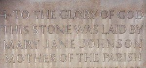 Foundation stone at St Mary's